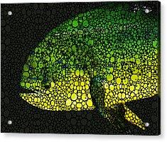 Dolphin Fish Art By Sharon Cummings Acrylic Print by Sharon Cummings