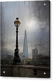 Dolphin Lamp Posts London Acrylic Print