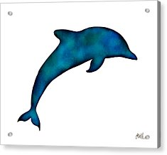 Acrylic Print featuring the painting Dolphin by Laura Bell