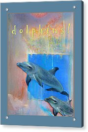 Acrylic Print featuring the pastel Dolphins by Brooks Garten Hauschild