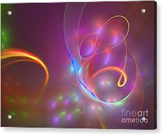 Acrylic Print featuring the digital art Dolphins Dream by Sipo Liimatainen