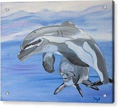 Sublime Dolphins Acrylic Print