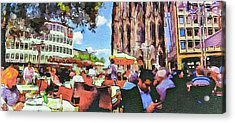 Dome Cafe In Cologne Acrylic Print