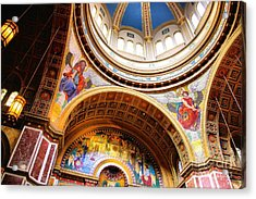 Acrylic Print featuring the photograph Dome Of St. Matthews Washington Dc by John S