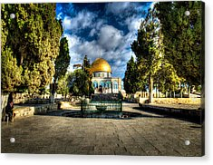 Dome Of The Rock Hdr Acrylic Print