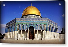 Dome Of The Rock Acrylic Print by Stephen Stookey