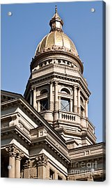 Dome On Capital Acrylic Print by Lawrence Burry