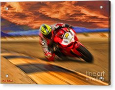 Domenic Caluori At Speed Acrylic Print