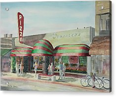 Domenicos In Long Beach Acrylic Print by Debbie Lewis