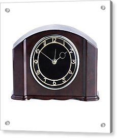 Domestic Clock With A Bakelite Housing Acrylic Print by Science Photo Library
