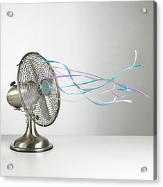 Domestic Fan Showing Air Movement Acrylic Print by Science Photo Library