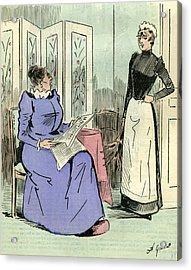 Domestic Servant 1891 Paris France Acrylic Print by French School