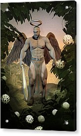 Dominant Angel Acrylic Print by Quim Abella
