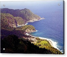 Acrylic Print featuring the photograph Dominica Coast Line by Denise Moore