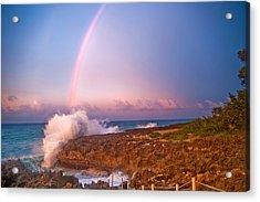 Dominican Rainbow Acrylic Print