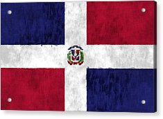 Dominican Republic Flag Acrylic Print