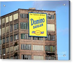Domino Acrylic Print by Ed Weidman