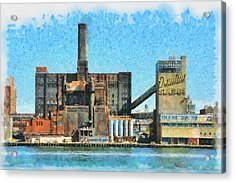Domino Sugar New York Acrylic Print