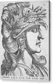 Domitian Caesar , 1596 Acrylic Print by Italian School