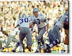 Don Meredith Hands Off Acrylic Print by Retro Images Archive