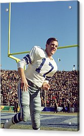Don Meredith Warms Up Acrylic Print by Retro Images Archive