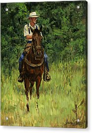 Jack On His Horse Chico Acrylic Print