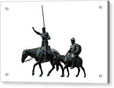 Acrylic Print featuring the photograph Don Quixote And Sancho Panza  by Fabrizio Troiani