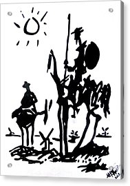 Acrylic Print featuring the painting Don Quixote by Michelle Dallocchio