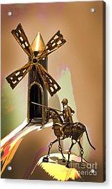 Don Quixote Tilting At Windmills Acrylic Print