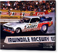 Don The Snake Prudhomme Irwindale Raceway 1970s Acrylic Print by Howard Koby