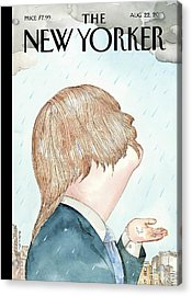 Donald's Rainy Days Acrylic Print by Barry Blit