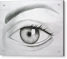 Donate Your Eyes Acrylic Print by Tanmay Singh