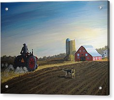 Done For The Day Acrylic Print by Norm Starks