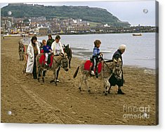 Donkey Ride Gb 1980s Acrylic Print by David Davies