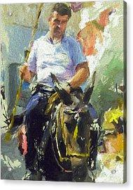 Donkey Ride Acrylic Print by Yury Malkov