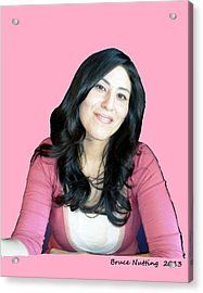 Donna In Pink Acrylic Print by Bruce Nutting