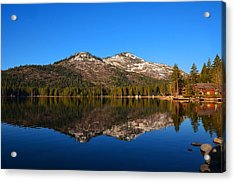 Donner Lake Cabin Reflection Acrylic Print