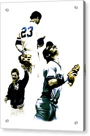 Donnie Baseball  Don Mattingly Acrylic Print by Iconic Images Art Gallery David Pucciarelli