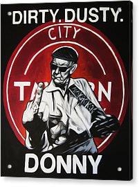 Donny Cash Acrylic Print