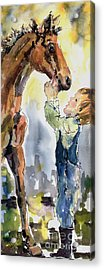 Don't Be Afraid I Won't Let Them Hurt You Acrylic Print by Ginette Callaway