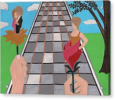 Acrylic Print featuring the painting Don't Get Strung Out by Barbara St Jean