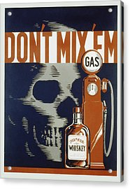 Acrylic Print featuring the mixed media Don't Mix'em by American Classic Art
