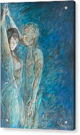 Don't Speak - Lovers Acrylic Print by Nik Helbig