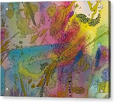 Doodle With Color Acrylic Print
