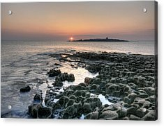 Doolin Sunset Acrylic Print by John Quinn