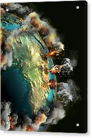 Doomsday Volcanoes Acrylic Print by Claus Lunau