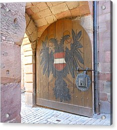 Acrylic Print featuring the photograph Door At Nuremberg by Kay Gilley