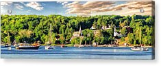 Door County Ephraim Harbor Sunset  Panorama Acrylic Print