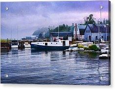 Door County Gills Rock Fishing Village Acrylic Print