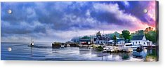 Door County Gills Rock Morning Catch Panorama Acrylic Print